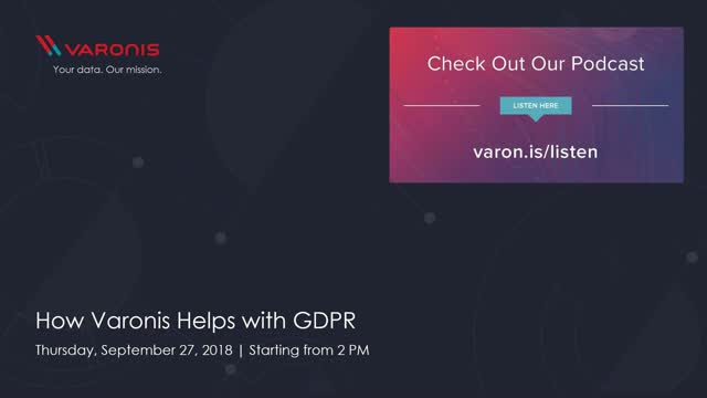 How Varonis Helps with GDPR