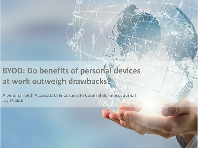 BYOD: Do benefits of personal devices at work outweigh drawbacks?