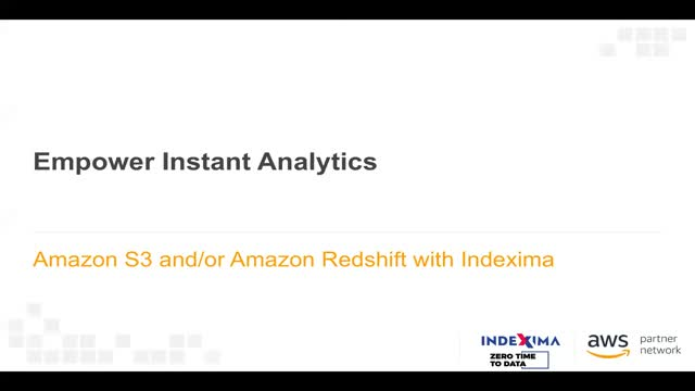 Enable Instant Analytics on AWS Data Lakes
