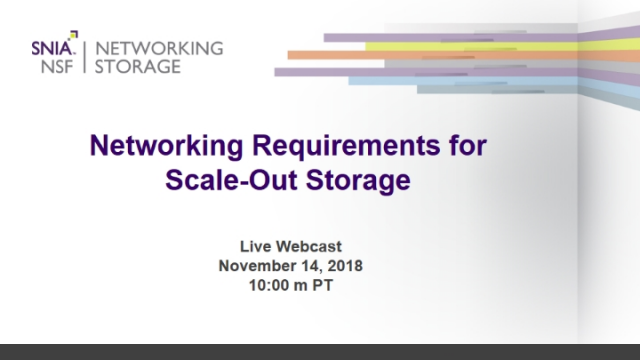 Networking Requirements for Scale-Out Storage