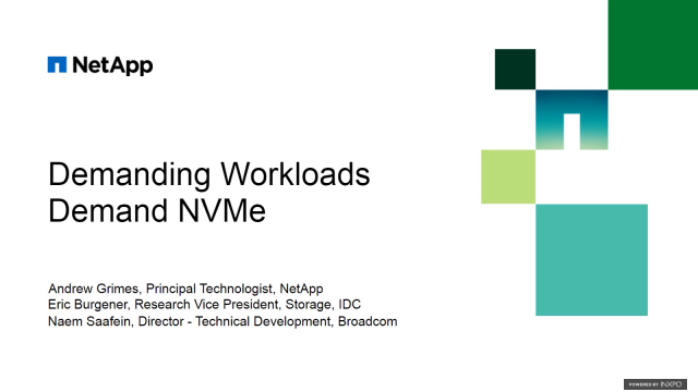 Demanding Workloads Demand NVMe