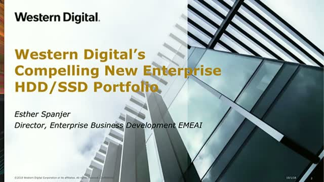 Western Digital's Compelling New Enterprise HDD/SSD Portfolio