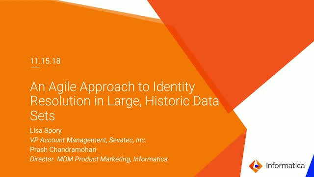 An Agile Approach to Identity Resolution in Large, Historic Data Sets
