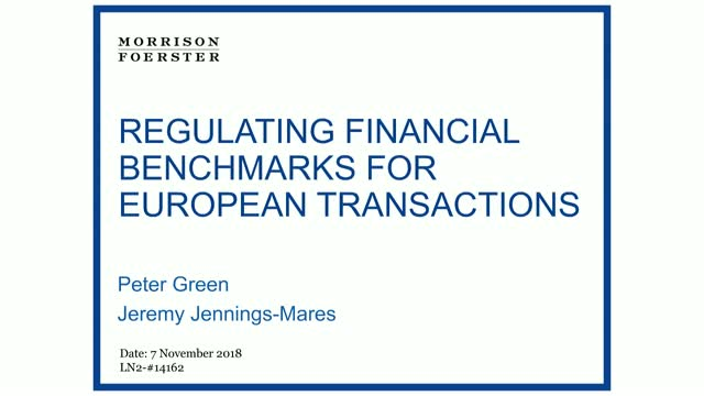 Regulating financial benchmarks for European transactions