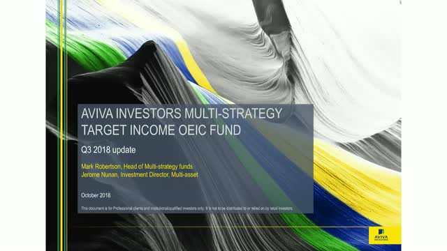 Aviva Investors Multi-Strategy (AIMS) Target Income Fund update (Q3 2018)