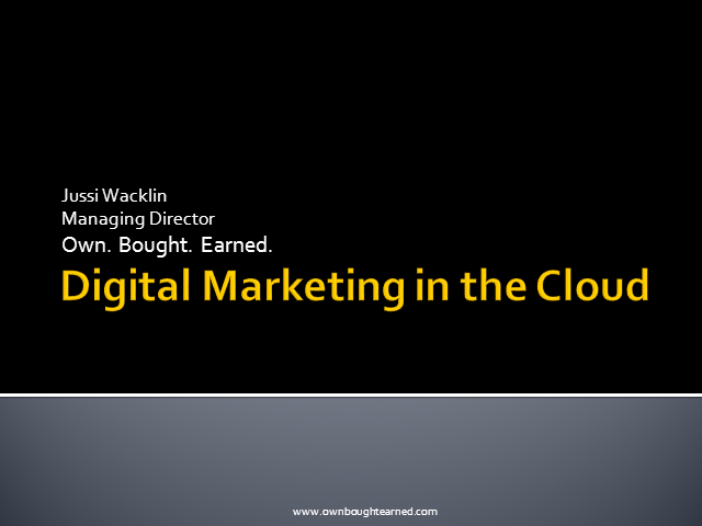 Transforming Digital Marketing Through the Cloud
