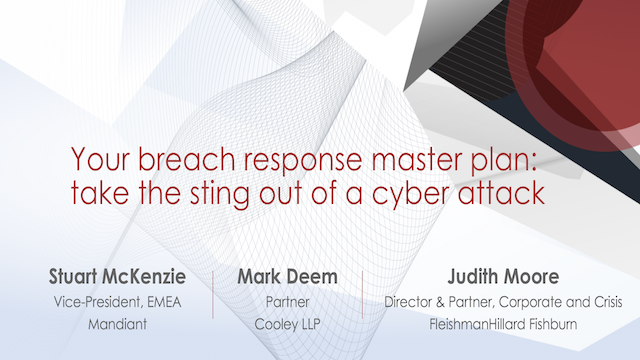 Your breach response master plan: take the sting out of a