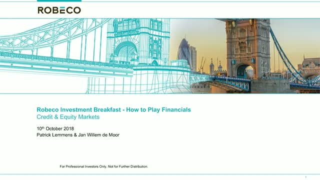 How to play financials in equity & credit markets