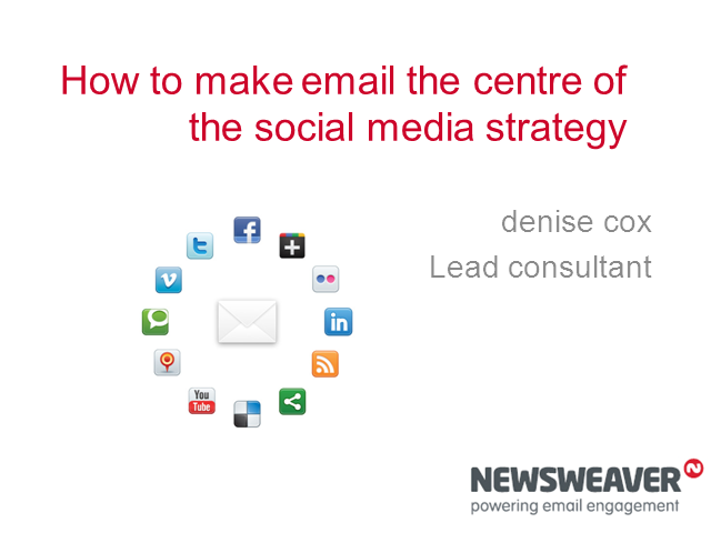 How to make email the centre of the social media strategy