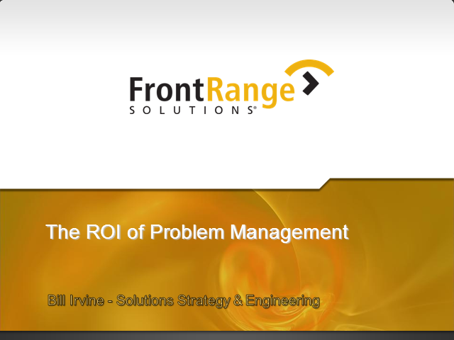 The Real ROI of Problem Management!