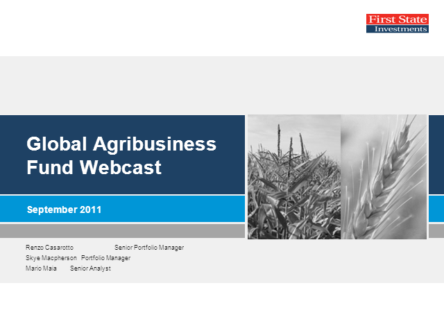 First State Global Agribusiness Fund
