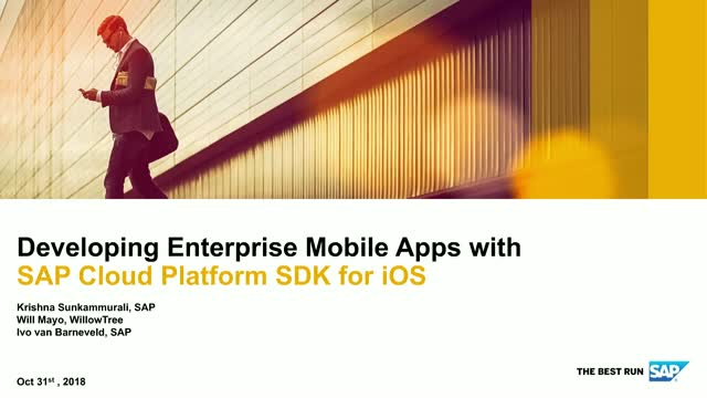 Developing Enterprise Mobile Apps with SAP Cloud Platform SDK for iOS