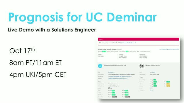 Prognosis for UC Live Demo [October 2018]