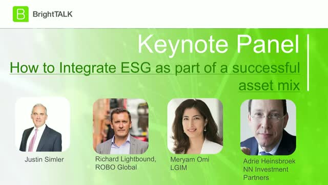 [Panel] How to Integrate ESG as part of a successful asset mix
