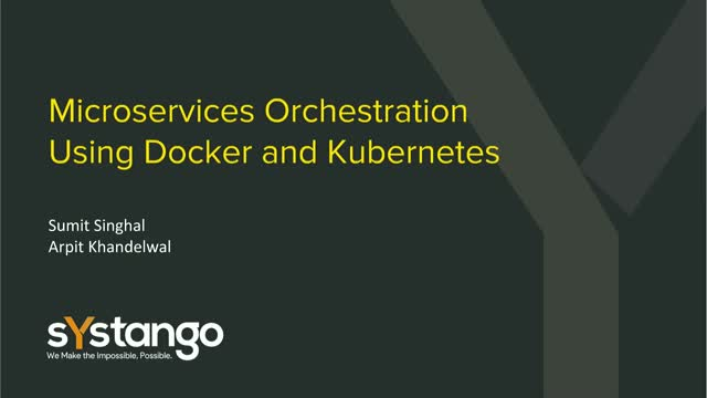 Microservices Orchestration Using Docker and Kubernetes