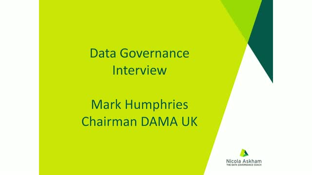 Data Governance Interview with Mark Humphries