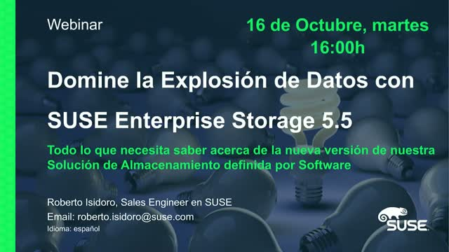 Domine la Explosión de Datos con SUSE Enterprise Storage 5.5