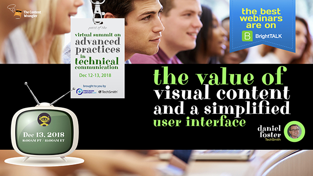 The Value of Visual Content and a Simplified User Interface