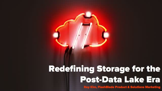 Redefining Storage for the Post-Data Lake Era