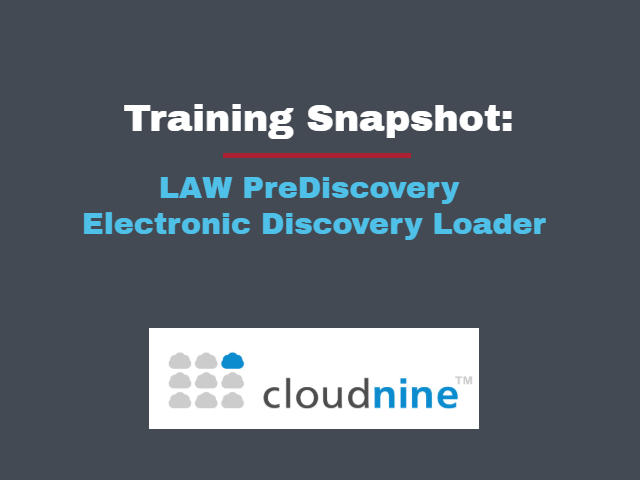 Law Prediscovery Electronic Discovery Loader