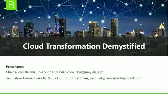 Cloud Transformation Demystified