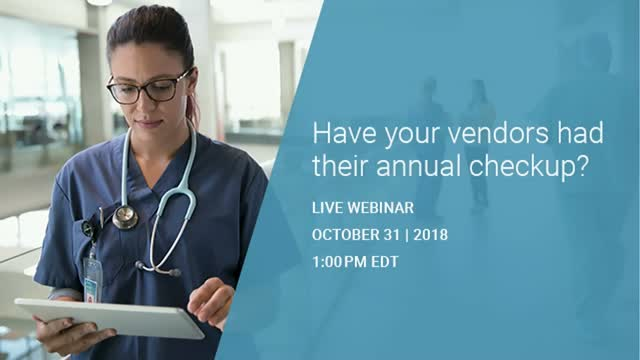 Have your vendors had their annual checkup?