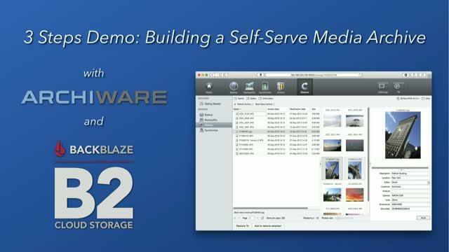 3 Steps to a Self-Serve Media Archive with Archiware and Backblaze B2