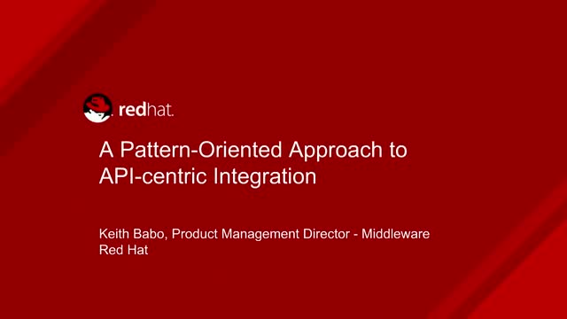 A Pattern-Oriented Approach to API-centric Integration