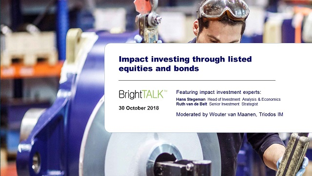 Impact investing through listed equities and bonds