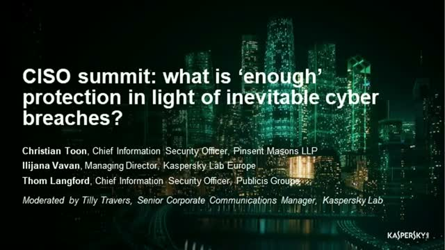 CISO Panel: How To Deal with Breaches