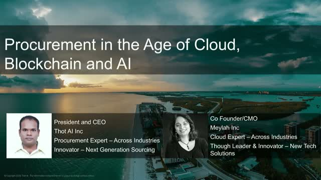 Procurement In The Age of Cloud, AI and Blockchain