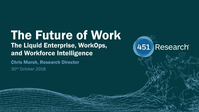 The Future of Work: The Liquid Enterprise, WorkOps and Workforce Intelligence