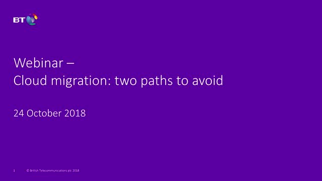 Cloud migration: two paths to avoid
