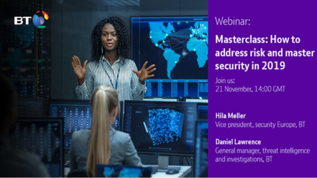 Masterclass: How To Address Risk and Master Security in 2019