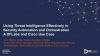 Using Threat Intelligence Effectively in Security Automation and Orchestration
