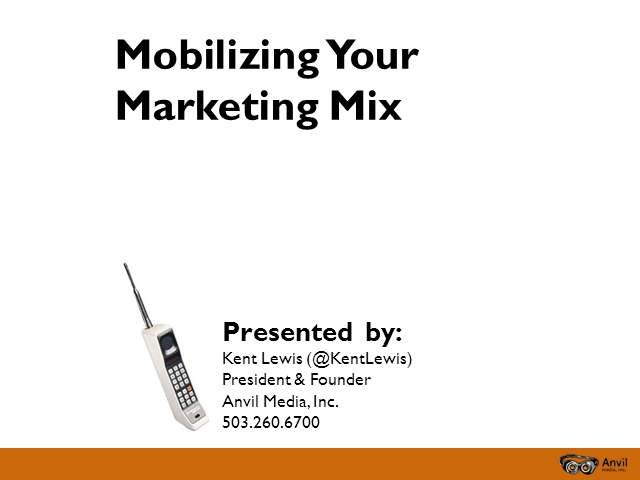 Mobilizing Your Marketing Mix