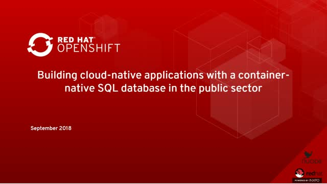 Building cloud-native applications with a container-native SQL database in the p
