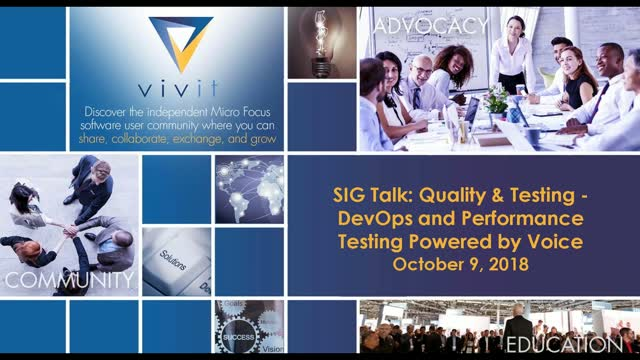 Q&T SIG Talk Series - DevOps and Performance Testing Powered by Voice