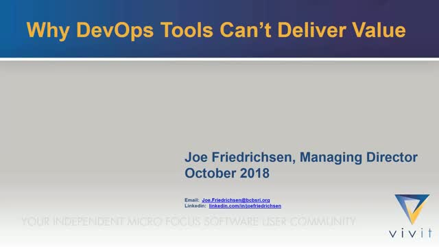 Q&T SIG Talk Ep. 25: Why DevOps Tools Can't Deliver Value