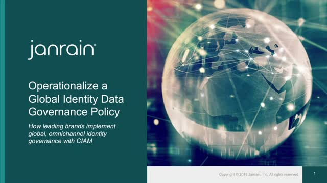 Operationalize a Global Identity Data Governance Policy
