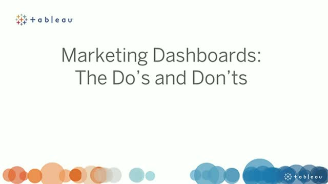 Marketing Dashboards: The Do's and Don'ts