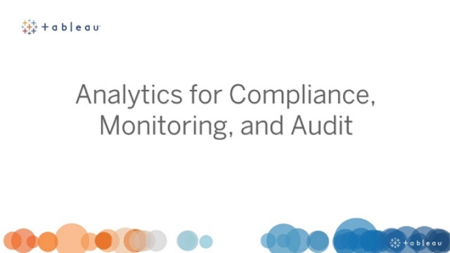 Analytics for compliance, monitoring and audit