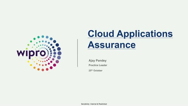 Cloud Applications Assurance