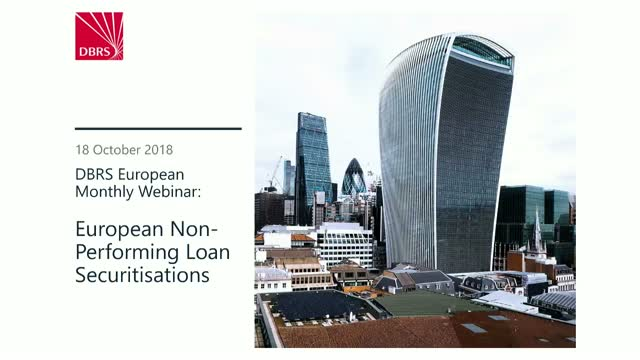 DBRS Webinar: European Non-Performing Loan Securitisations
