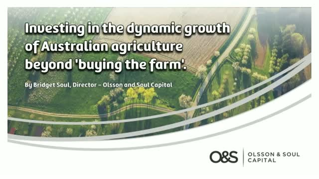 Investing in Australian agriculture beyond 'buying the farm'