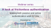 A look at frictionless authentication