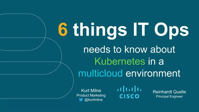 6 Things IT Ops Needs to Know About Kubernetes in a Multicloud Environment