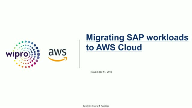 Move your SAP workloads to the AWS Cloud with Wipro