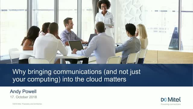 Why bringing communications (and not just your computing) into the cloud matters