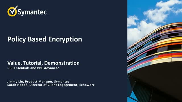Email Security.Cloud: Policy Based Encryption Best Practices